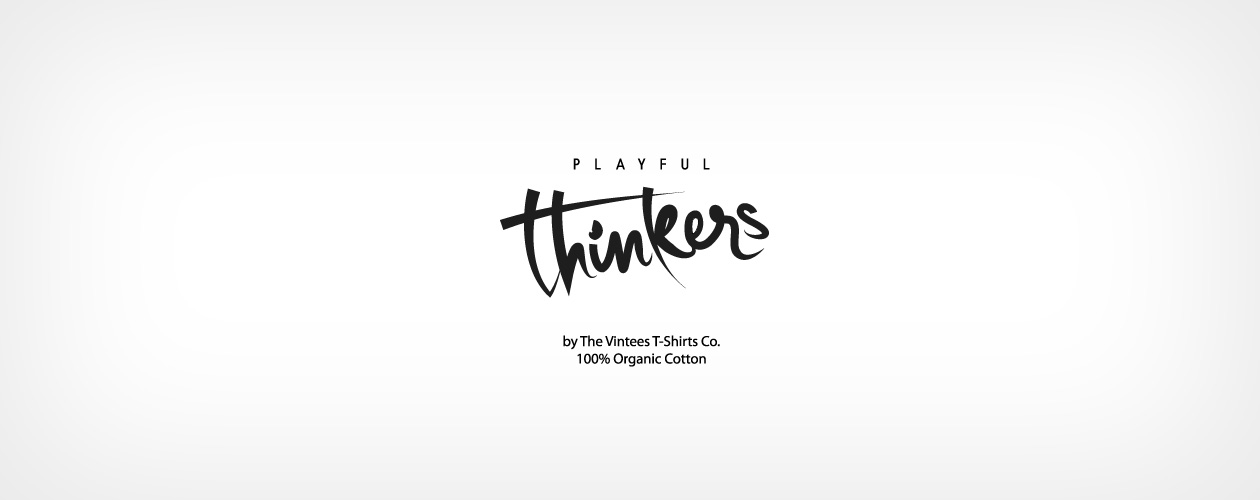 Playful Thinkers logo Camisetas The Vintees algodón orgánico para niños
