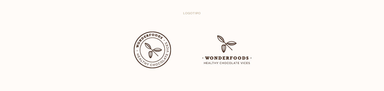 Wonderfoods logotipo versiones